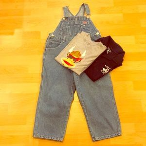 OLD NAVY kids, long overalls, EUC